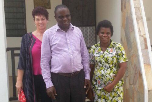 Harrison and I wuth Philipa who runs the health centre