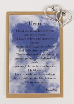 Heart Remembrance Card  with Heart Charm