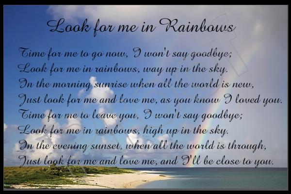 Look for me in Rainbows - poem
