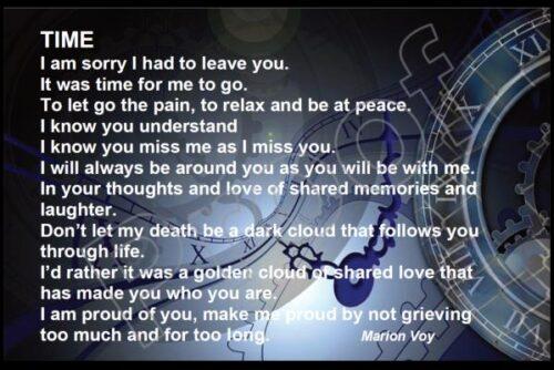 Remembrance poem Time