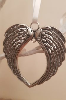 angel wings remembrance charm