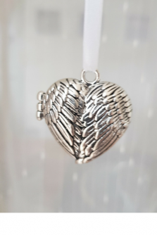 Angel Wings Locket Remembrance Charm