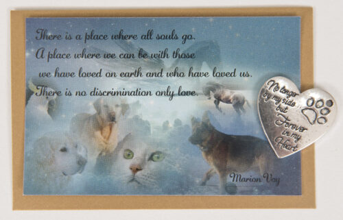 Pet Remembrance Card and Charm